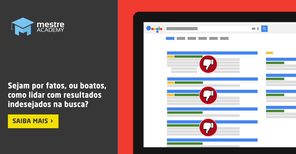 Páginas indesejadas nos resultados do Google